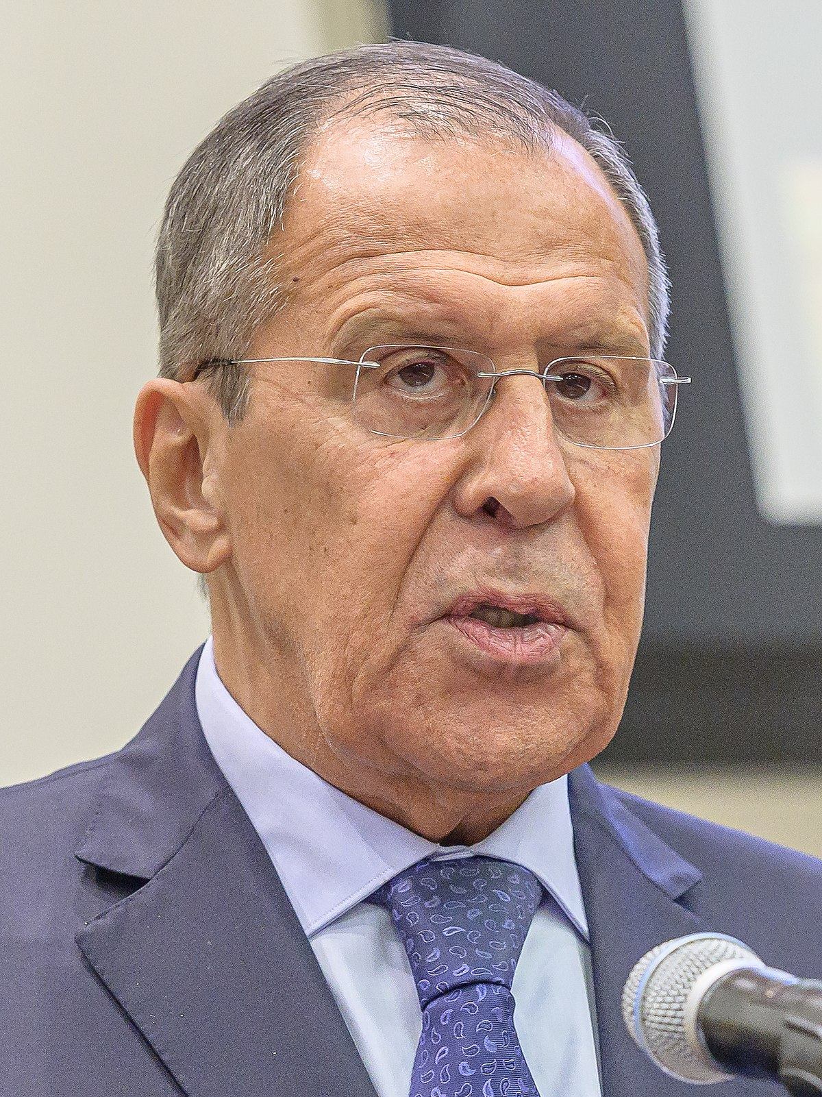 Sergey Lavrov, Minister of Foreign Affairs for the Russian Federation, is seen during the 2019 Comprehensive Test-Ban Treaty Article XIV Conference in Conference Room 2 at United Nations Headquarters in New York, NY, USA on September 25, 2019.